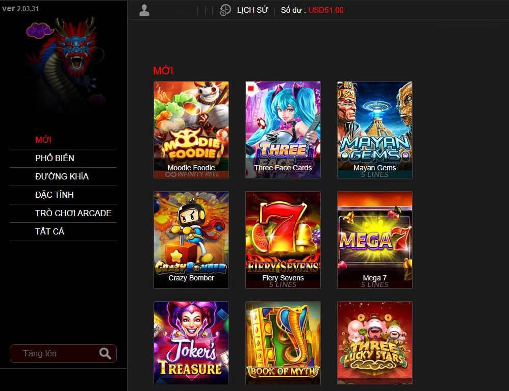 Slot Games - Số lượng phong phú, nhiều line, nổ hũ (Jackpot) lớn